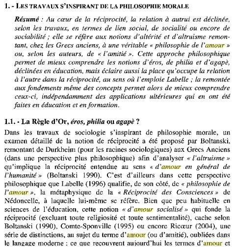 Agapé Eros Philia - extrait de La part d'autrui dans la formation de soiautonomie, autoformation et ... De Jérôme Eneau agapeerosphilos01